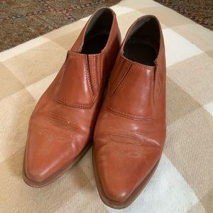 VTG Durango leather western half boots